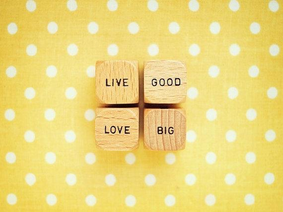 Live Good Love Big Fine Art Photography Scrabble by happeemonkee