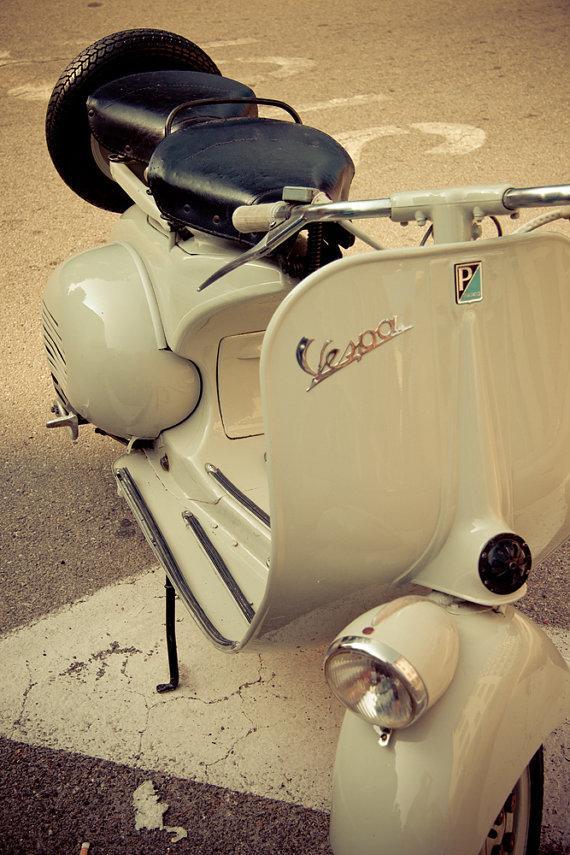 My sweet Vespa Retro vintage Vespa 8x12 fine art by BasicDesign