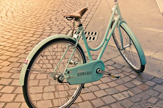 Edward's Bike 8x10 bikes print art biker bicycle by BasicDesign
