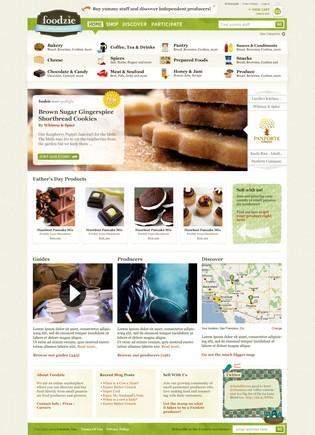 Foodzie Site Design