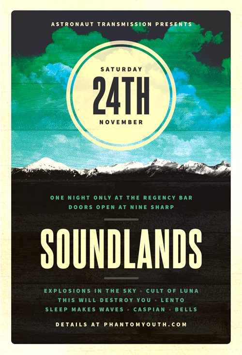 Sound Lands - Post-Rock Flyer Template - Posters - Creattica