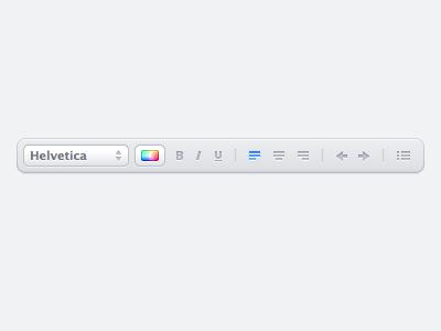 Formatting Toolbar by Benjamin De Cock