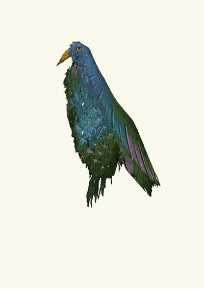 TIREd parrot Art Print by pascal+ | Society6