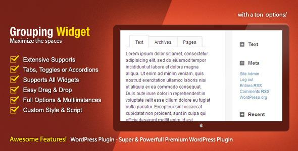WordPress - Grouping Widget | CodeCanyon