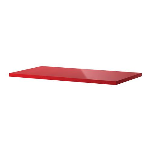 VIKA AMON Table top - high gloss/red - IKEA