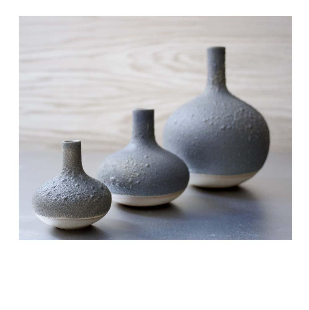 Set of 3 Rustic Lab Bottle Vases by Sara Paloma by sarapaloma