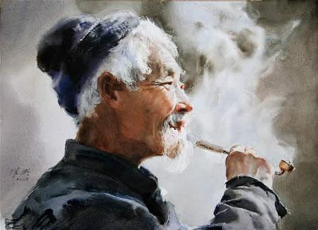 Art Of Watercolor: Guan Weixing. Interview.