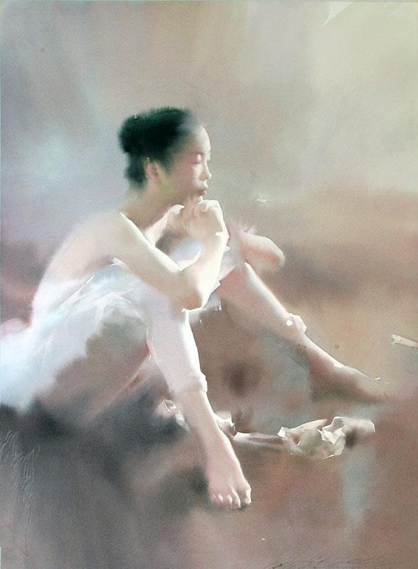 Liu Yi 1958 | Chinese Figurative Watercolour painter | The Ballet dancer | Tutt'Art@ | Pittura * Scultura * Poesia * Musica |