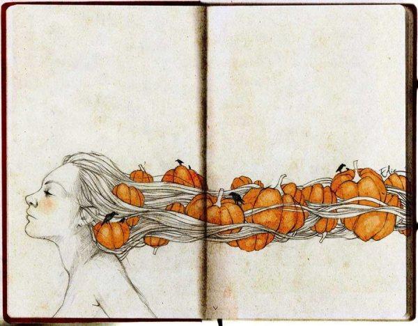 Beautiful Hand-Drawn Illustrations by Elia Fernández   inspirationfeed.com