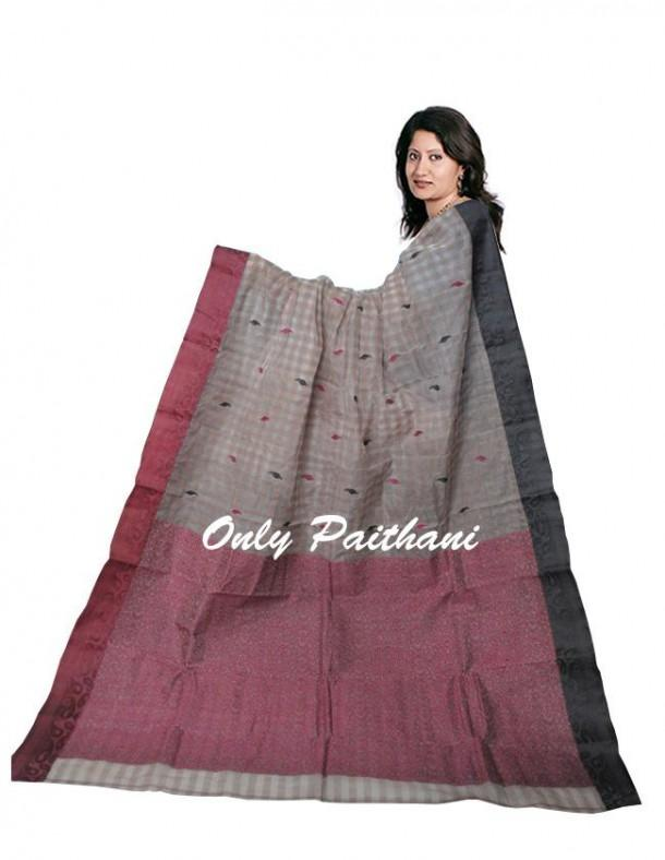 Kolkata Pure cotton with contrast borders - Craftsia - Indian Handmade Products & Gifts