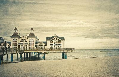 At the pier Art Print by pascal | Society6
