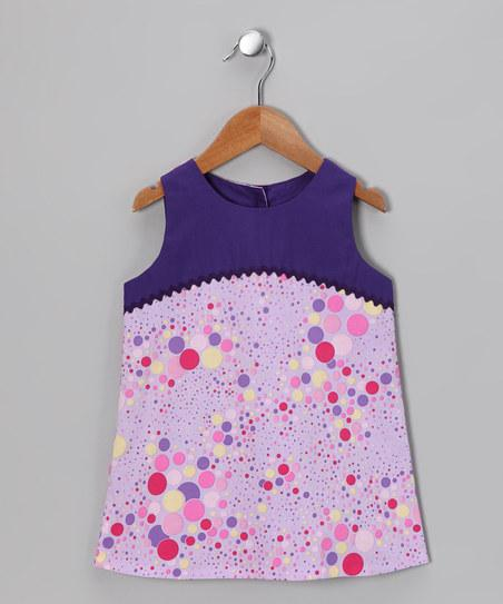 Lavender Bubble Dot A-Line Dress - Infant, Toddler & Girls | Daily deals for moms, babies and kids