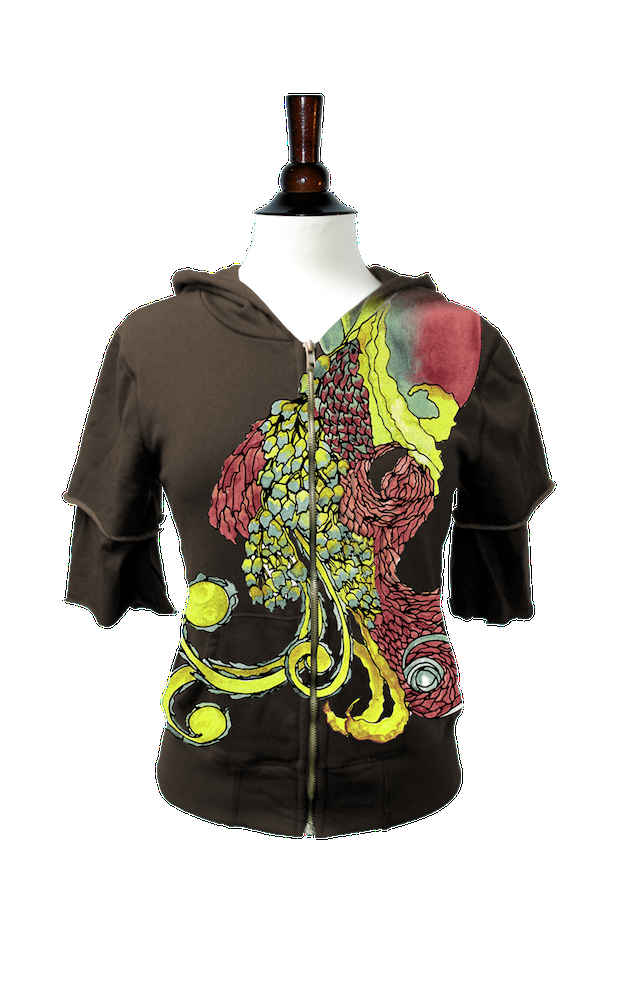 Fancy Bird (Aged Black, Twofor Hoodie) — Idylle Clothing