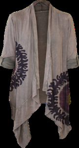 Suzani Circle (Cinder, Modal Tab Draped Cardigan) — Idylle Clothing