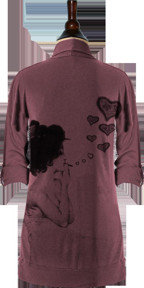 Love Smoke (Burberry, Tab Draped Cardigan) — Idylle Clothing
