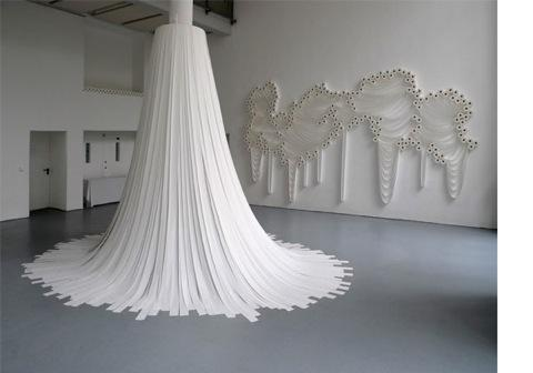 Toilet roll installations by Sakir Gökcebag — Lost At E Minor: For creative people