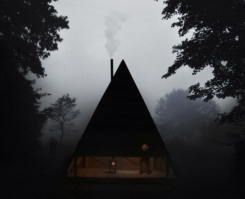 "Cabin Porn: ""Black Lodge"" by Jagnefalt Milton in Furillen,..."