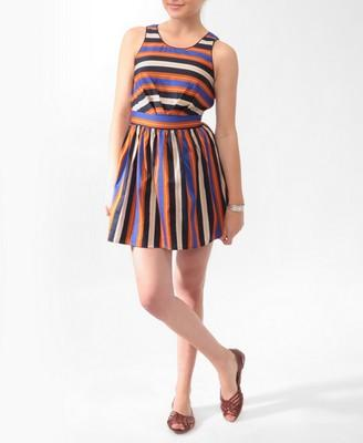 Striped Woven Dress | FOREVER21 - 2000029641