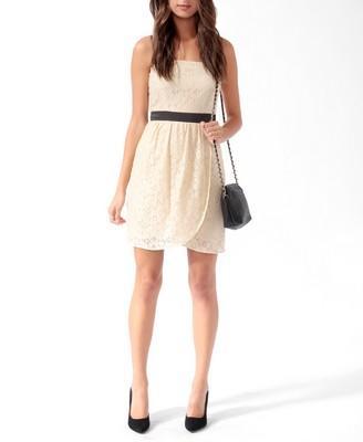 Satin Trim Lace Dress   FOREVER21 - 2000031553