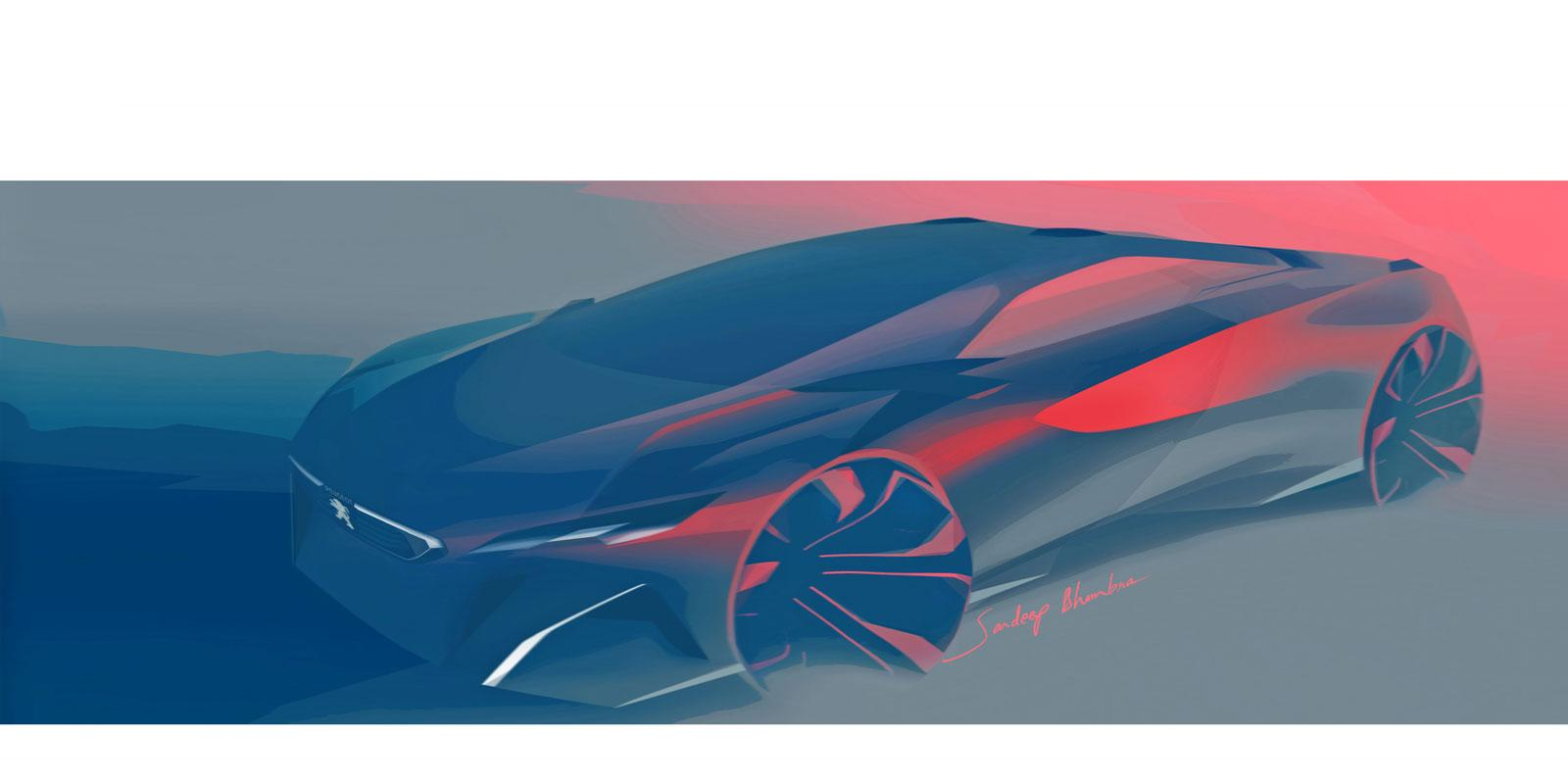 Peugeot Onyx Concept Design Sketch - Car Body Design