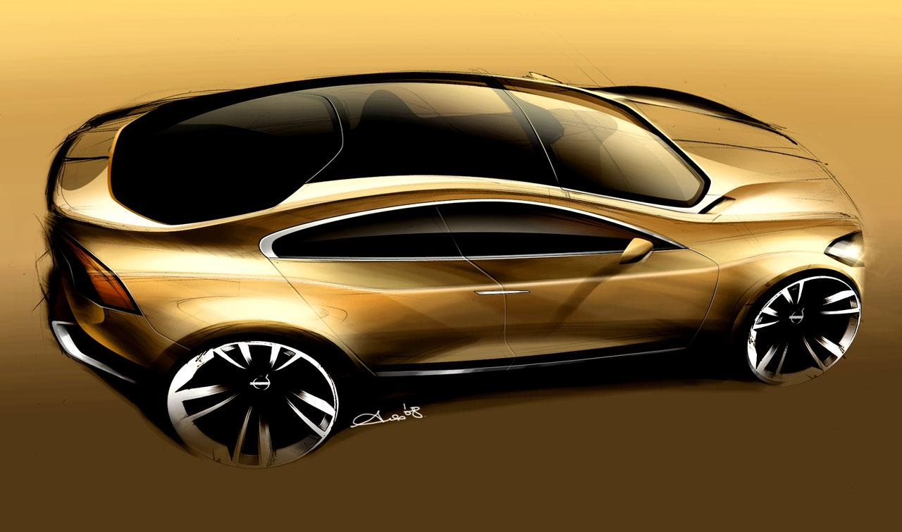 Volvo S60 Concept Design Sketch - Car Body Design