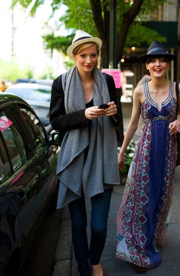 On the Street…Shiny Happy Models Wearing Hats, Uptown « The Sartorialist