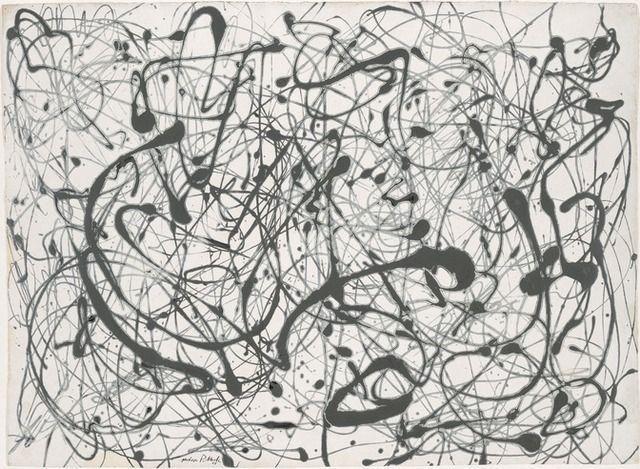 Jackson Pollock | Number 14: Gray (1948) | Art.sy