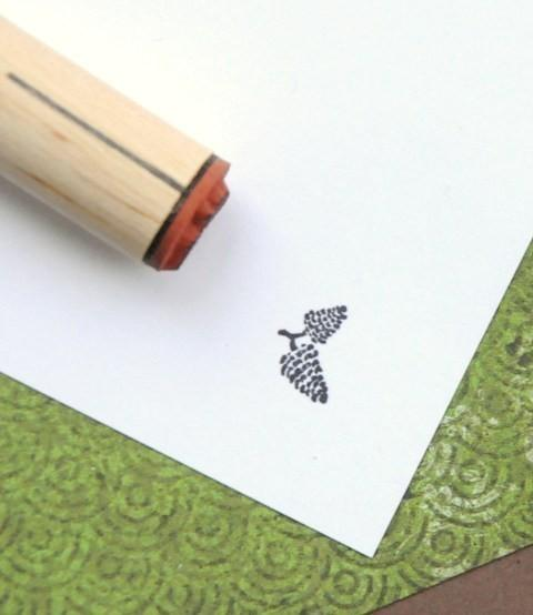 Double Pinecone Rubber Stamp by norajane on Etsy