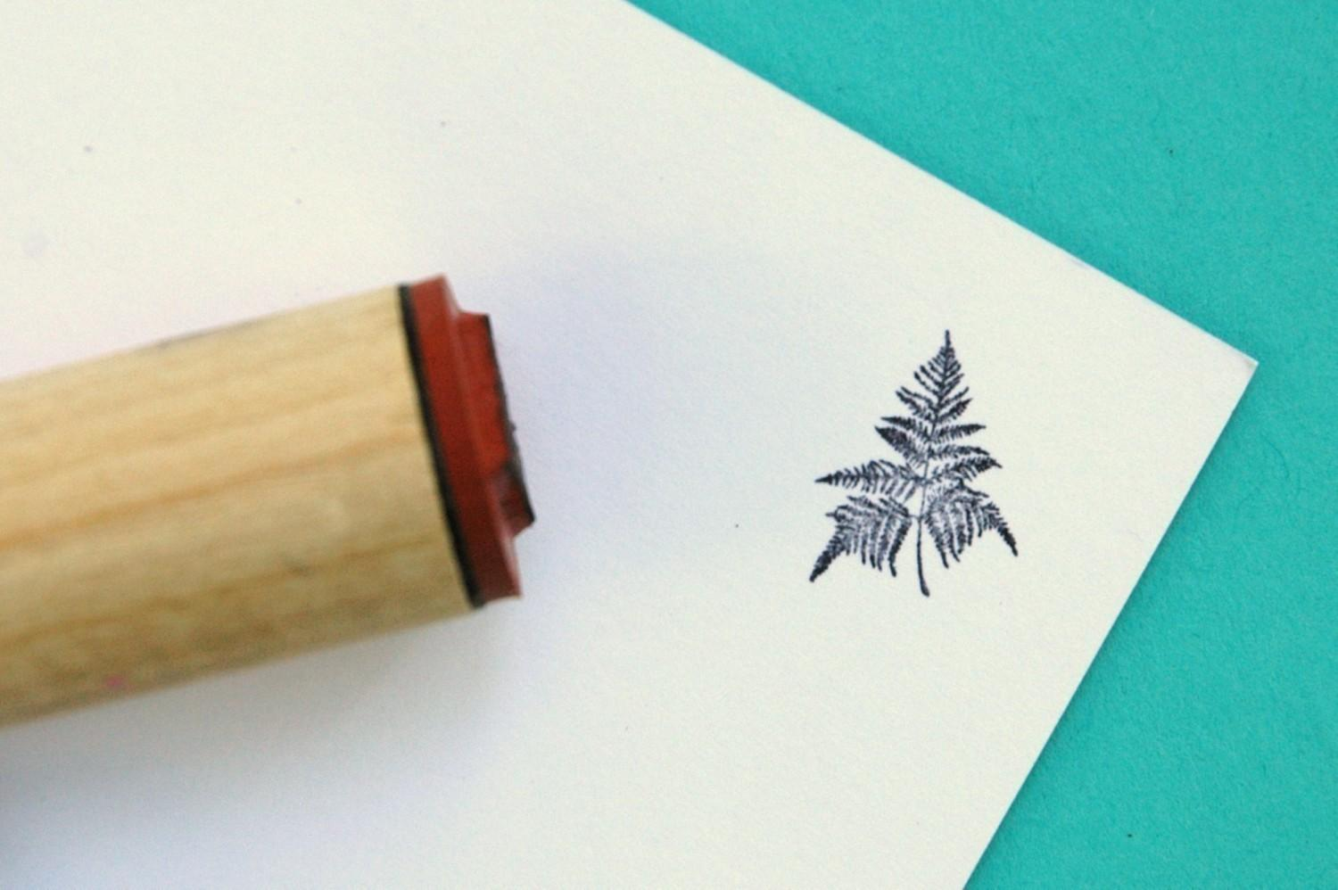 Bracken Fern Rubber Stamp by norajane on Etsy