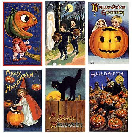 Halloween Postcard Book with Vintage Halloween by ThirdShift