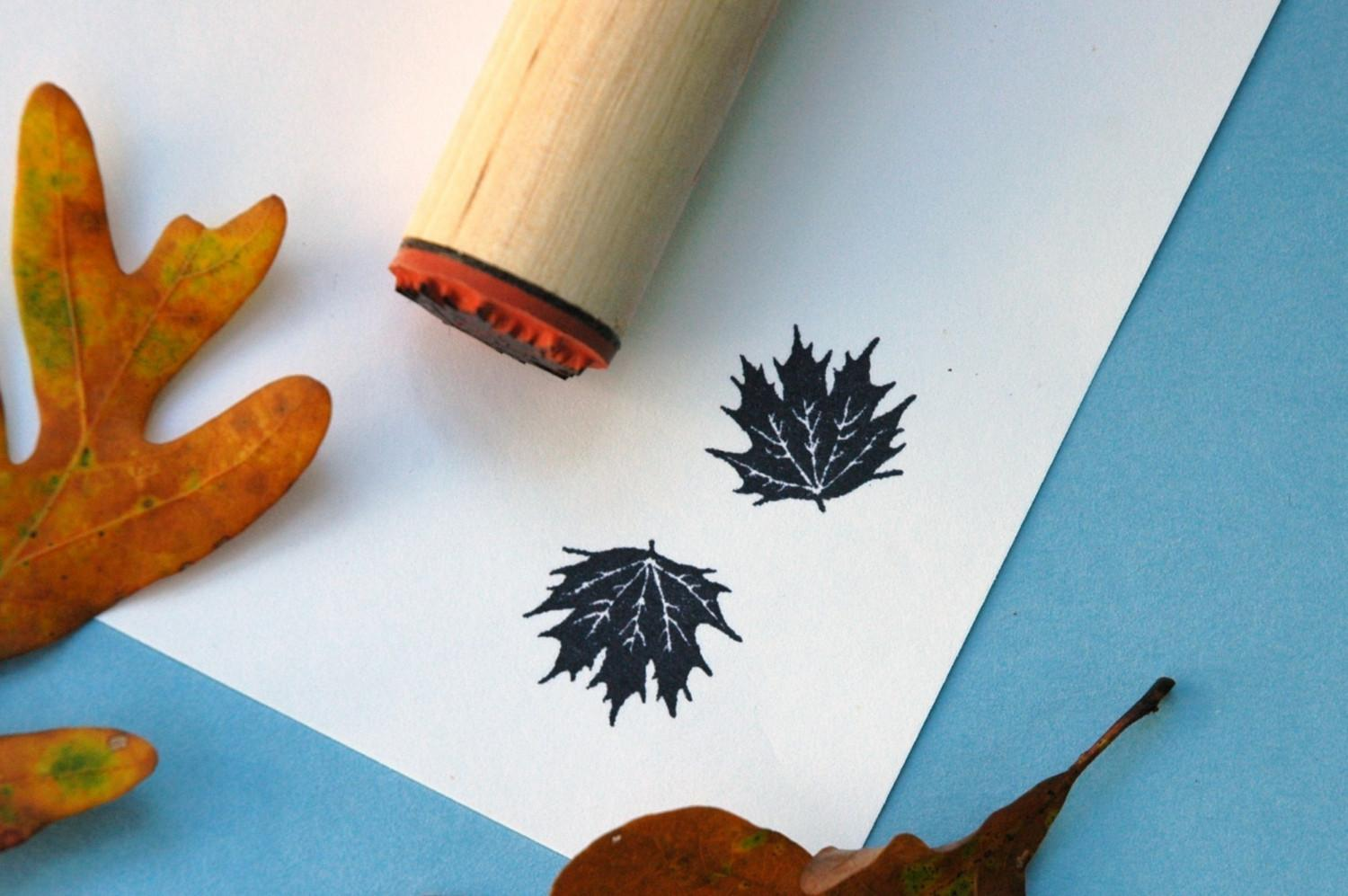 Fancy Maple Rubber Stamp by norajane on Etsy