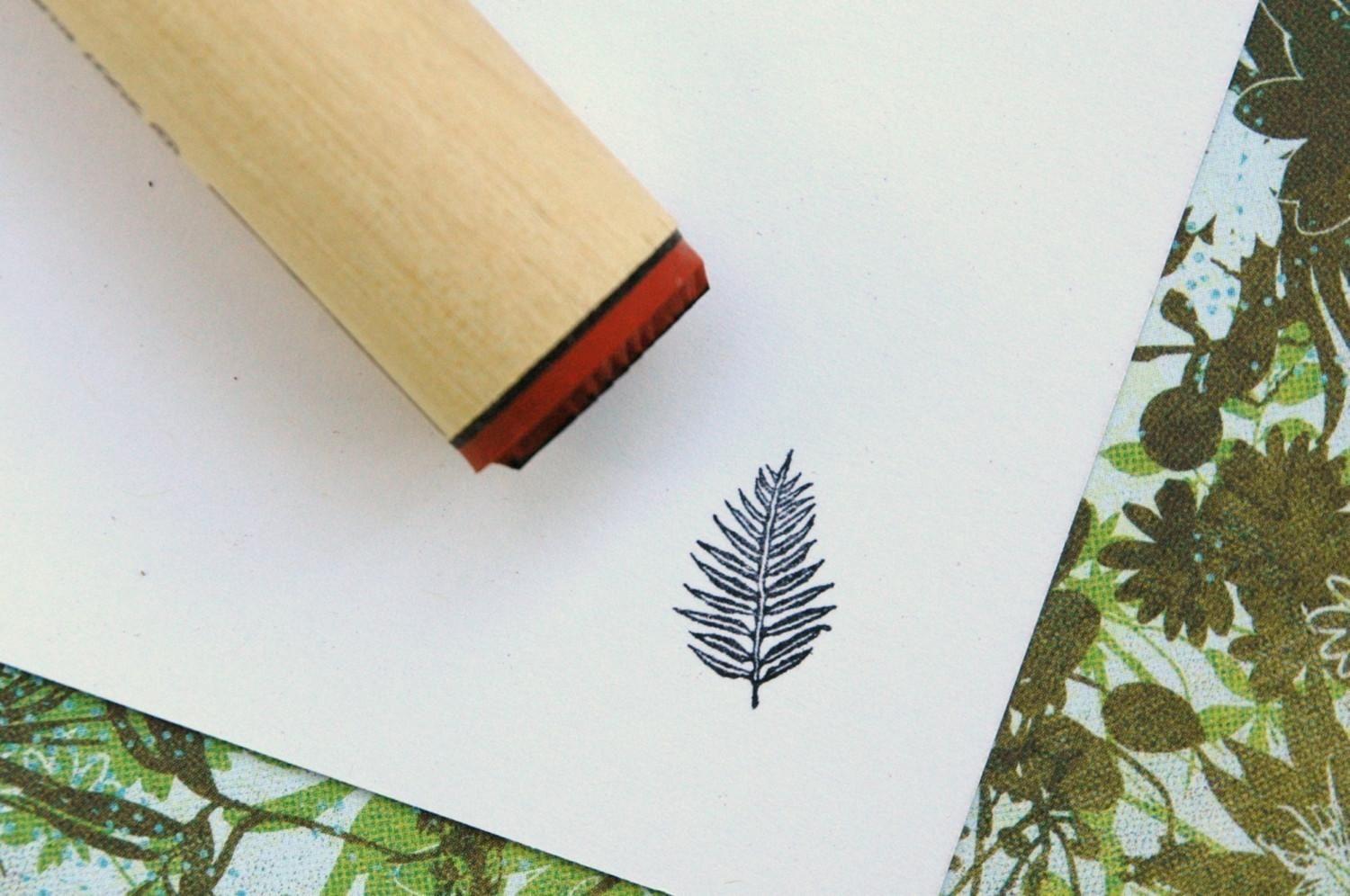 Palm Fern Rubber Stamp by norajane on Etsy