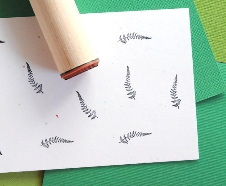 Ladyfern Rubber Stamp by norajane on Etsy