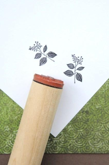 Shade Plant Left Rubber Stamp by norajane on Etsy
