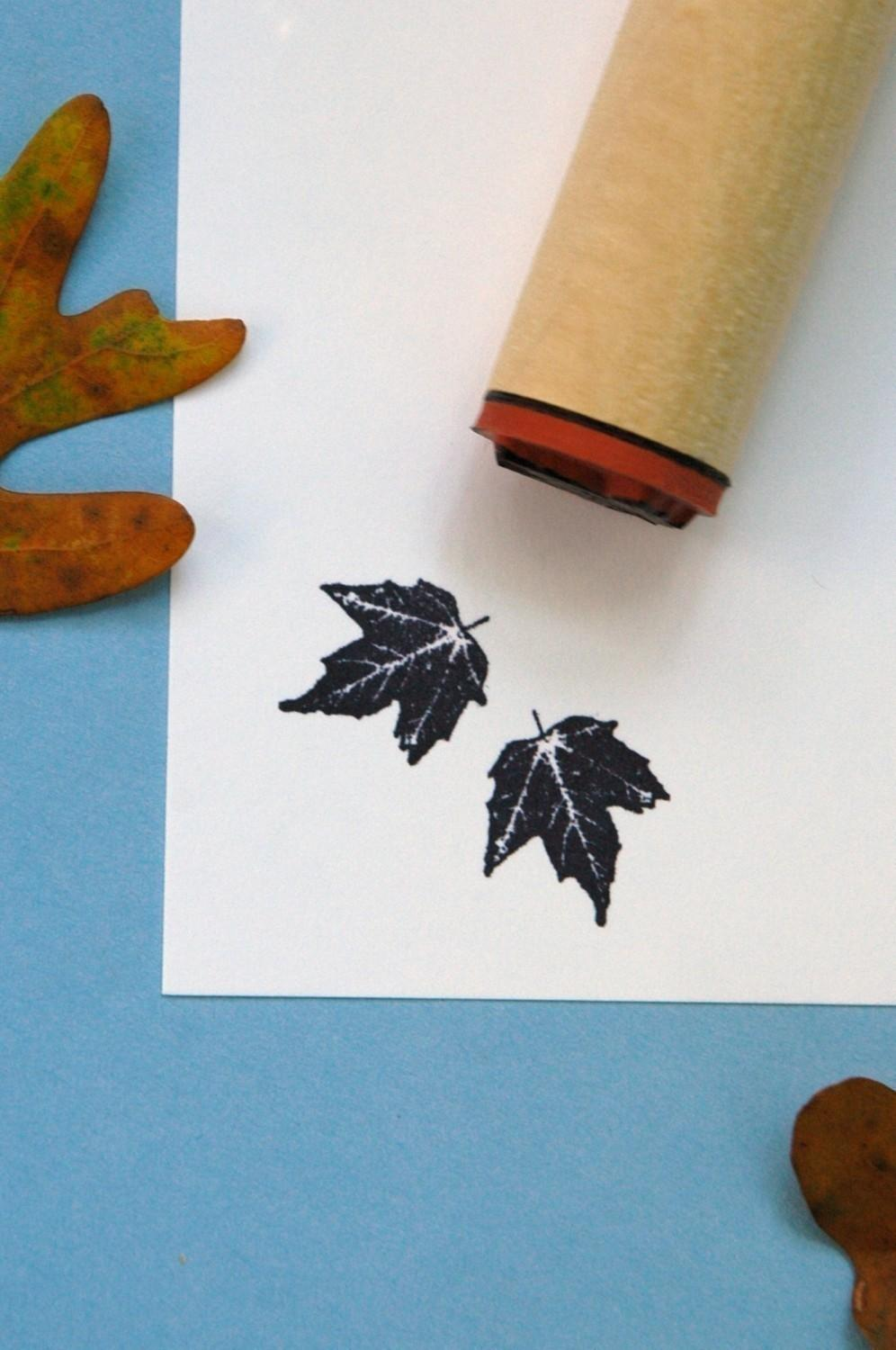 Canyon Maple Rubber Stamp by norajane on Etsy