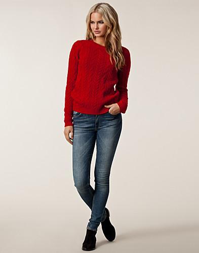 Odette Classic Sweater - Tommy Hilfiger - Rød - Gensere - Klær - NELLY.COM Mote online