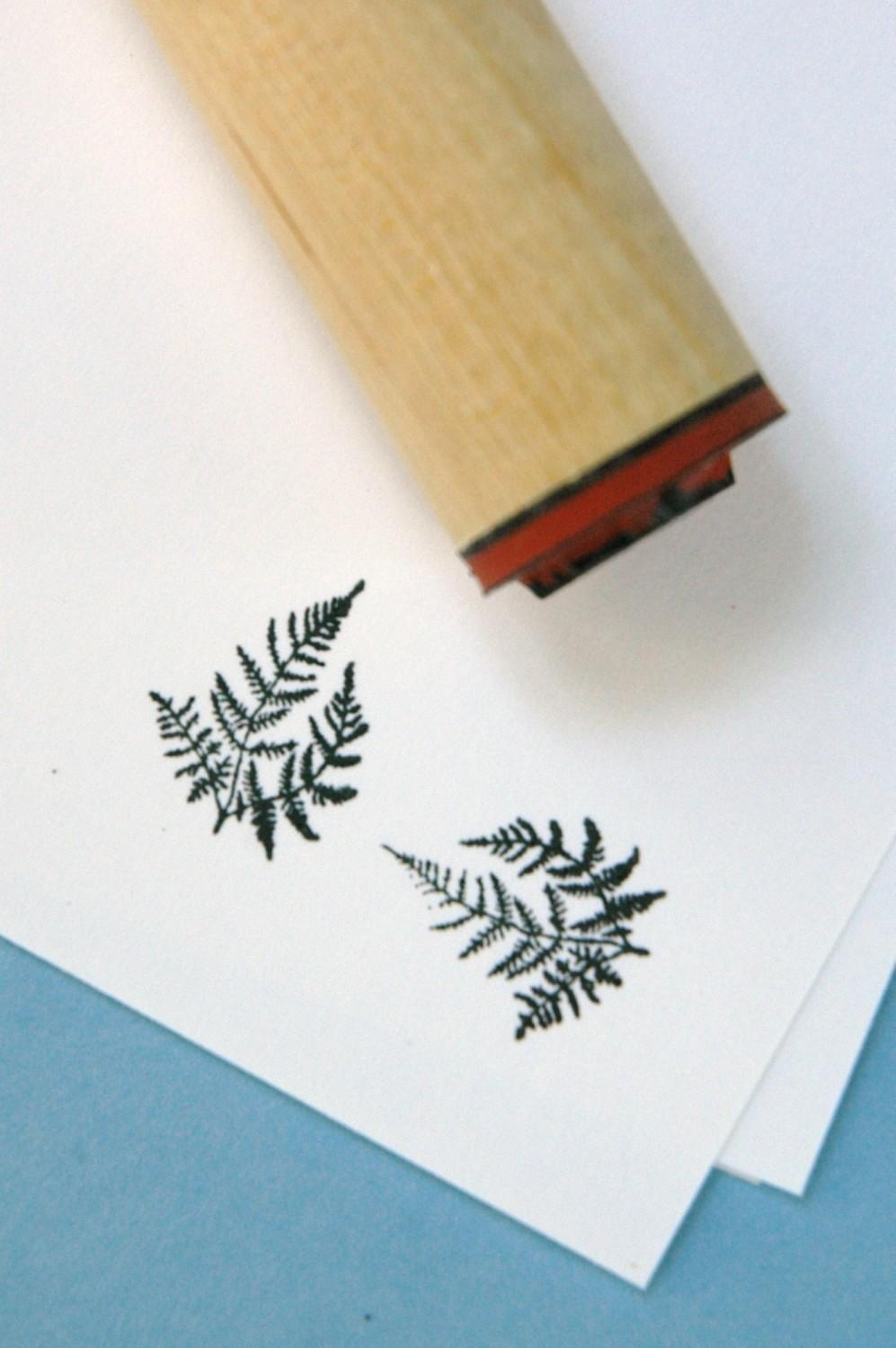 Delicate Fern Rubber Stamp by norajane on Etsy