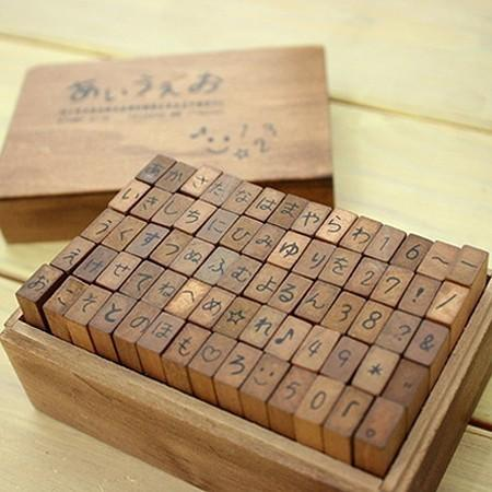 Antique style Japanese Language HIRAGANA and by WonderlandRoom
