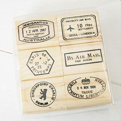 Journey the World Postmark Stamps set E 6 by WonderlandRoom