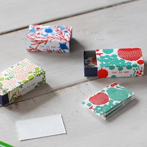 20 Beautiful Letterpress Mini Cards in a by littlehappythings1