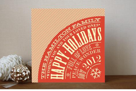 Vintage Typography Poster Holiday Non-Photo Cards... | Minted