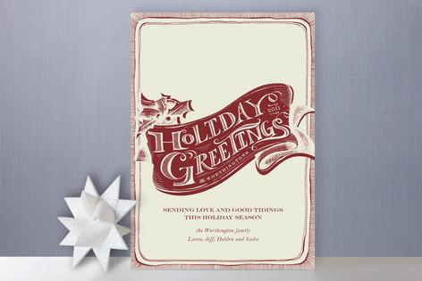 Vintage Greetings Holiday Cards by Pottsdesign | Paper Crave