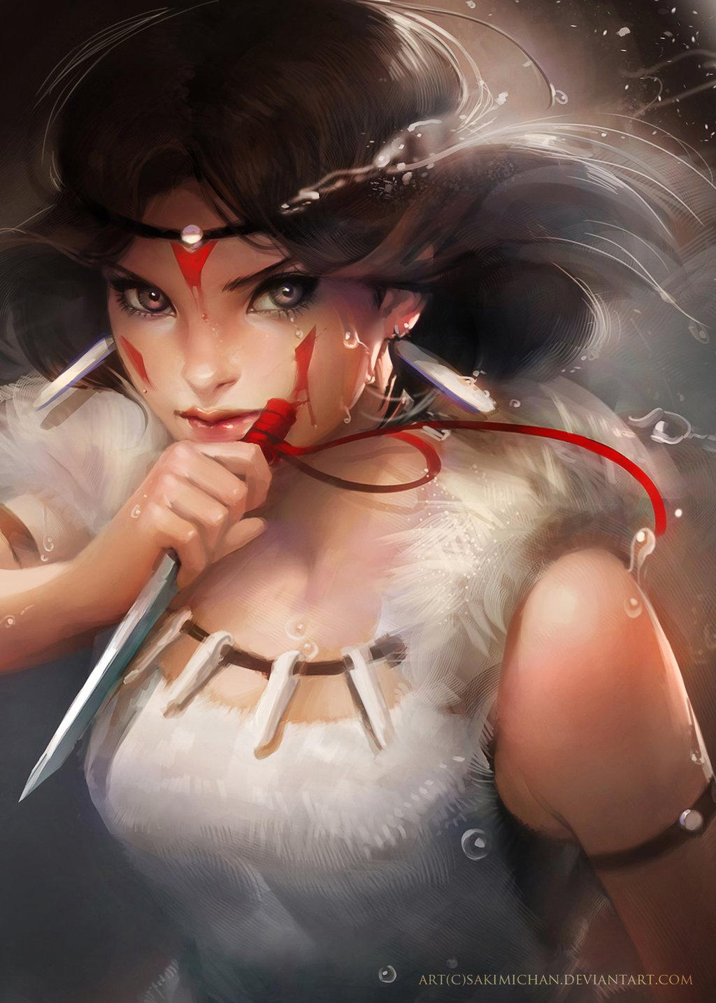Princess Mononoke by *sakimichan