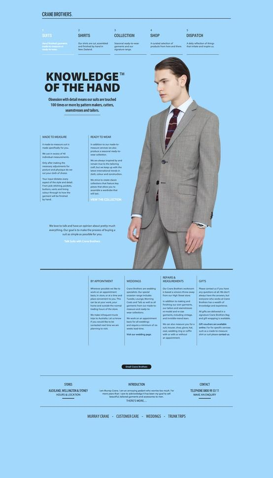 Best About Pages – Showcasing the best of the best about pages on the web » Crane Brothers Suits