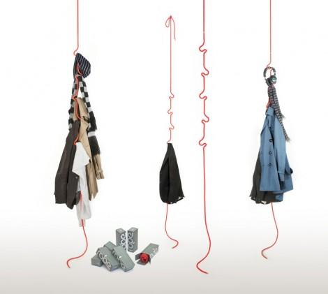 RobeRope Hangers by Club Cocage reinvent hangers for messy folks | Designbuzz : Design ideas and concepts