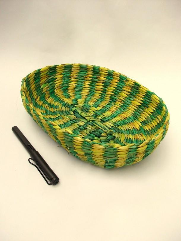 Rope International tropical grass décor tray Green and Yellow - Craftsia - Indian Handmade Products & Gifts