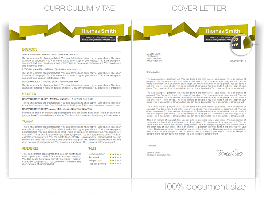 CV Template • CV Template Package Includes: Professional layout for 2 pages in DOC - file. • Curriculum Vitae Templates • Resume Templates • Cover Letter Templates • CVspecial.com