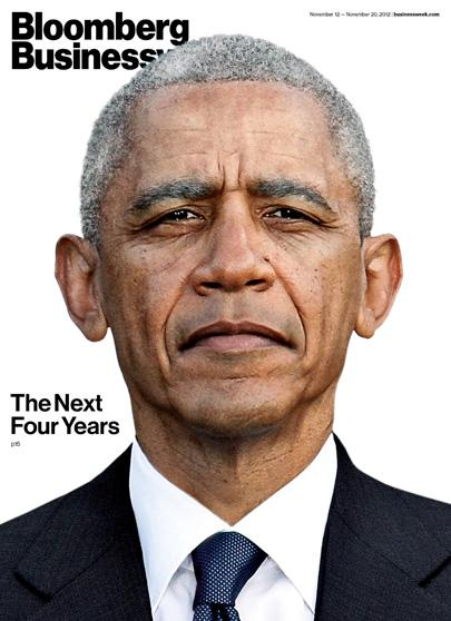 Cover of Bloomberg Businessweek Marks Reelection of President Obama - Businessweek