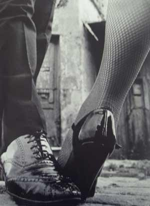 black and white, dance, dancing, fishnet, fishnets, shoes - inspiring picture