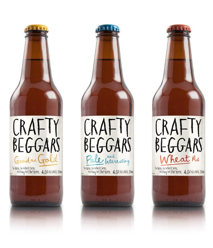 Crafty Beggars - The Dieline -